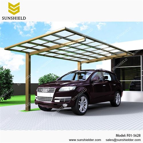 Metal Car Canopies : Metal car canopy prefab flat roof patio sunshield