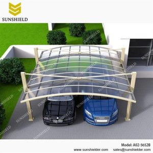 SUNSHIELD Carport - Alu Carport with PC Panel - Polycarbonate Carport for Sale - Aluminum Carport Awnings - Image of Diverse Model Design -6