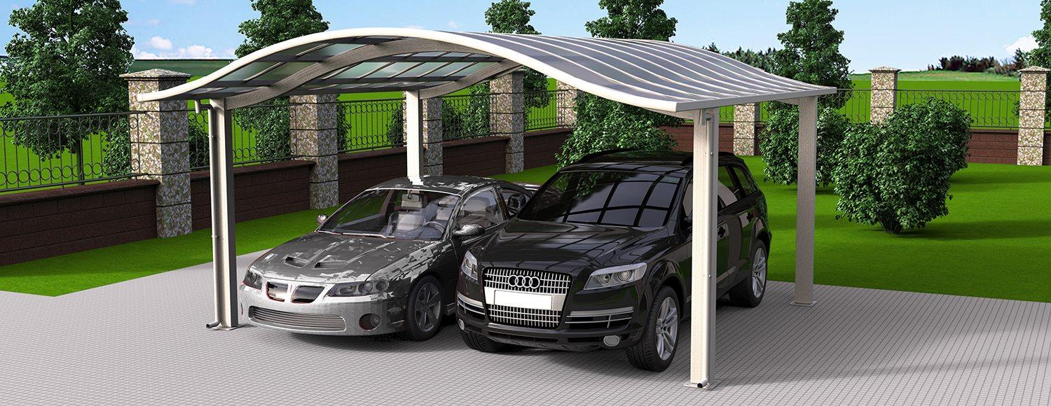 S02-5652 - SUNSHIELD Metal Sheds - Car Canopy with PC Panel - Aluminum Carport for Sale -2_Jc_Jc