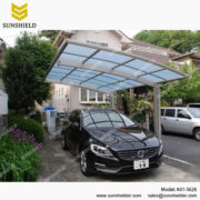Single Aluminum Carport Garage -Polycarbonate Carports - Car Port & Patio - Outdoor Car Parking - Sunshield Carport