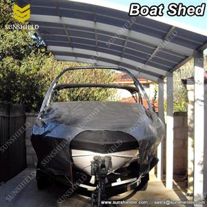 Boat Shed - Aluminum Single Slope Carports -Sunshield Carport