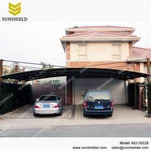 Cantilever Carports for 2 cars - Aluminum Car Parking Shed - Large Carport for RV - Sunshield Carport