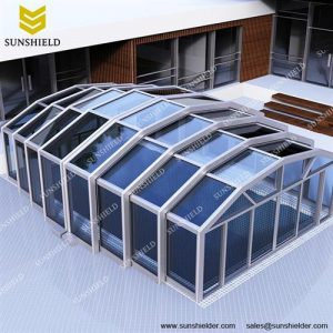 Hot tub enclosure- Conservatory Building - Yoga Room - Glass Screen Extension - Sunshield Shelter