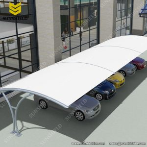Car park shades - Aluminum Carport with PVDF Roof - Consecutive Connection Carport - Tensile Parking Shed