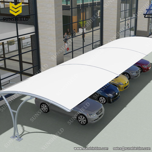 Attractive Car Park Shades   Aluminum Carport With PVDF Roof   Consecutive Connection  Carport   Tensile Parking