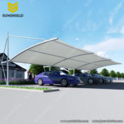 Prefeb Parking shdese for 2 car - Cantilever Carports - Tension Membrane Structure - Sunshield Shelter