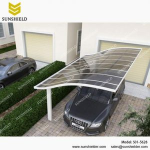 S-version Car shed-Aluminum Carport-Single slope metal carport for sale -Sunshield Shelter Carport