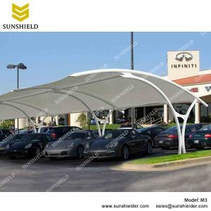 SUNSHIELD M3 Metal Car Ports - Portable Membrane Carport for Sale -1 ...  sc 1 st  Shelter Carport & Tensile Parking Shade - Fabric Carport -Sunshield Double Car Shed