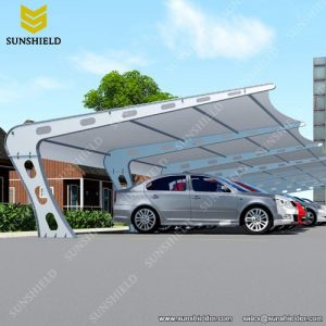 Solid Large Metal Carport - Tensile Parking Shed - Tention Membrane Structure - Sunshield Shelter