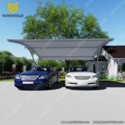 Sunshield Shelter Carport - Tensile Parking Shed - PVDF Fabric Carport