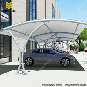 Tension Membrane Carport - Steel Carport -Fabric Carport - Sunshield Shelter
