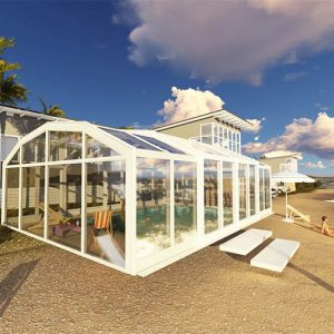 Sunshield Sunhouse - Sunroom Enclosures - Pool Sunshade - Retractable Pool Enclosure