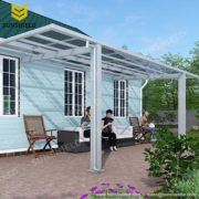 Glass Veranda - Polycarbonate Terrace - Sunshield Aluminum Canapy