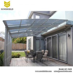 Driveway Canopy Waved Roof Single Carport Sunshield