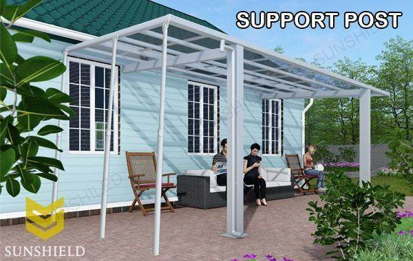 Support Post - aluminum patio covers - Sunshield Polycabonate Veranda_Jc