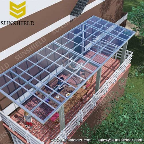 Aluminium Porch Polycarbonate Patio Cover Sunshield