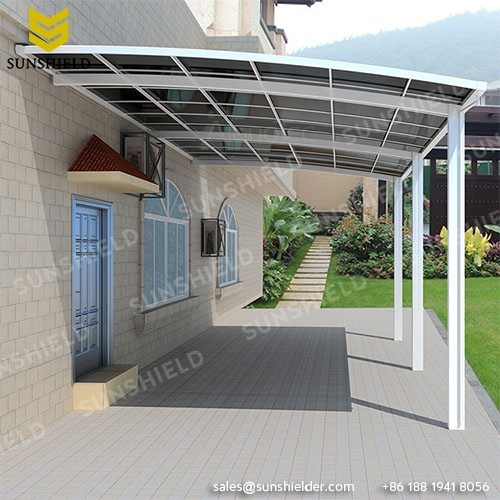 Door Covers - Patio Awnings- Porch Shade - Sunshield Shelter - Aluminum Patio - Polycarbonate Roof Gate Cover - Sunshield Shelter