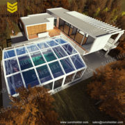 Glass Sun House - Auto Retractable Enclo. - Polycarbonate Sunroom -Sunshield Sunhouse
