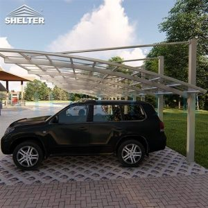 Cantilever-Car-Sheds-Brown-Polycarbonate-Carports-Aluminum-car-parking-for-double-cars-Sunshield-Carport-2