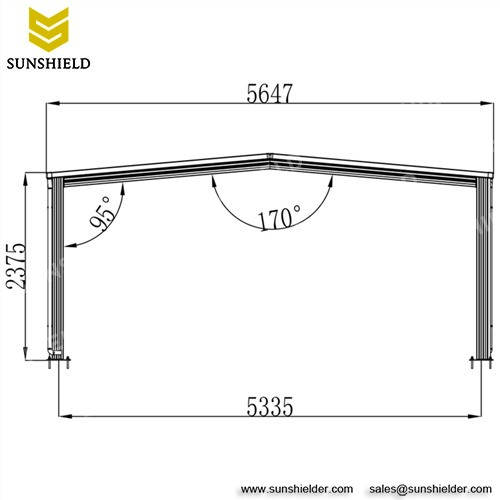 Portable Metal Carport - A-Frame Polycarbonate Carports - Sunshield