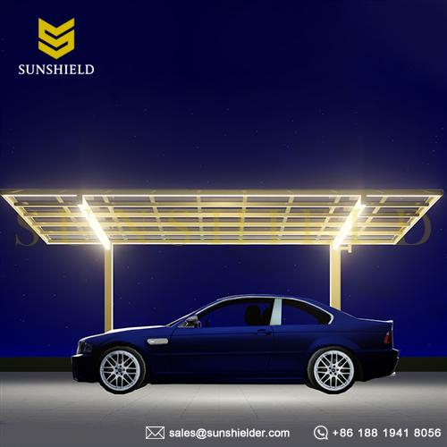 LED Carport - Led Lighting - Patio Cover with Light - Carport with auto Led lighting - Sunshield Shelter