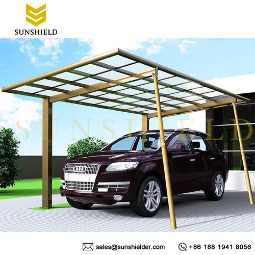 Removable Aluminum Support Post - Carport Support Post - Retracting Support Post - Sunshield Shelter