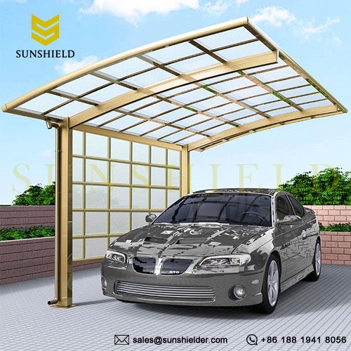 Side Polycarbonate Panel - Aluminum Alloy Carport - Customize Carport - Sunshield Shelter
