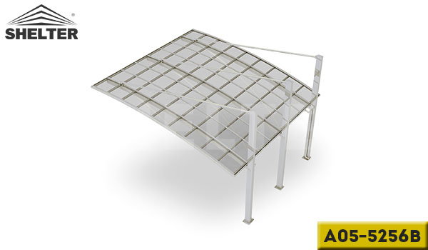 A05-5256B-sliver-arch-roof-pull-back-carport-for-2-cars-reliable-alu-carport-supplier-in-china