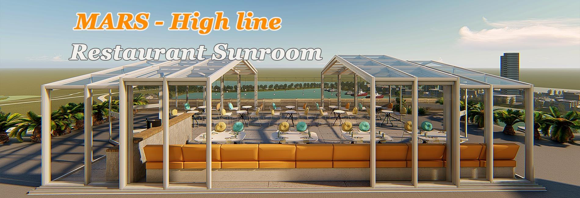 SHELTER SUNSHIELD- Mars high line freestanding restaurant sunroom