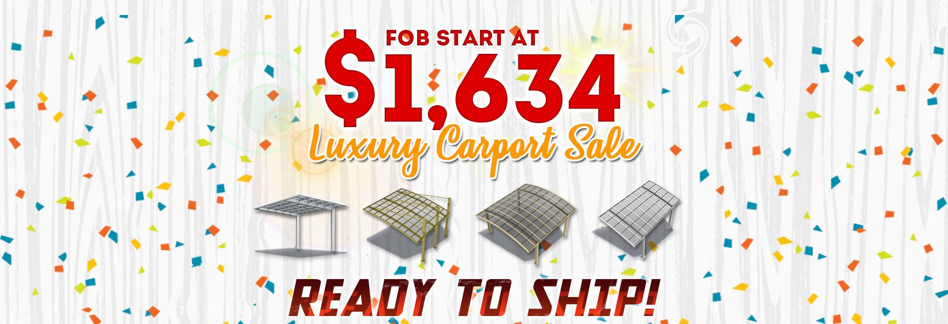 Sunshield Shelter Carport and Patio Cover-In stock and ready to ship bannar