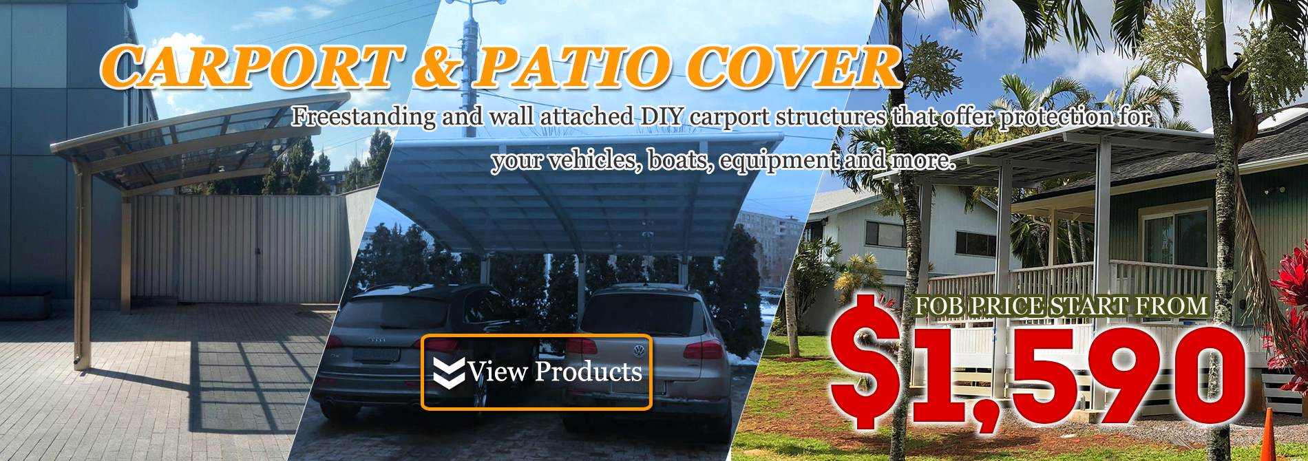 aluminum carport-Polycarbonate patio cover-Aluminum Shade-Shelter
